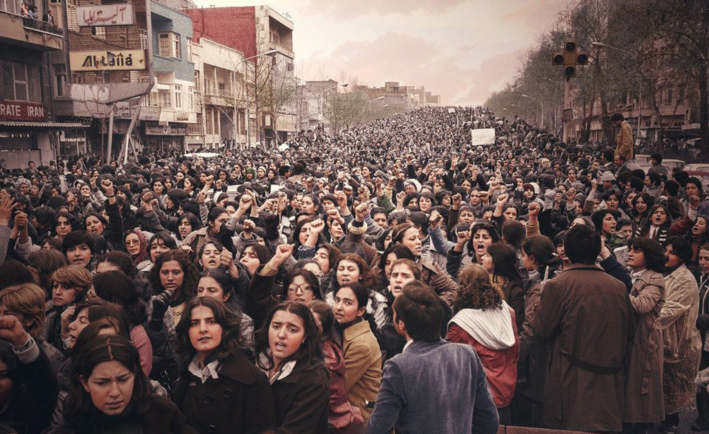 Women protesting forced Hijab (1979)