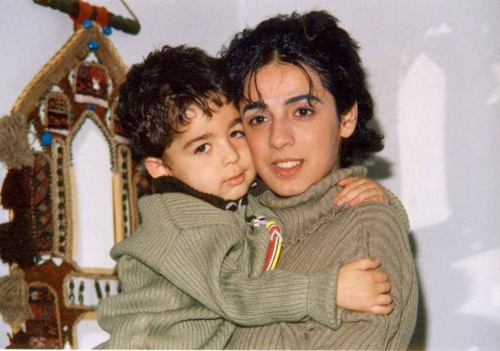 The author with her son, Pouyan, in Iran. (Photo courtesy of Masih Alinejad)